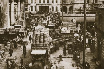 Early morning, Covent Garden Market, London, 20th century-Unknown-Framed Photographic Print