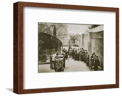 BBC broadcast from the aviary at London Zoo, 20th century-Unknown-Framed Photographic Print