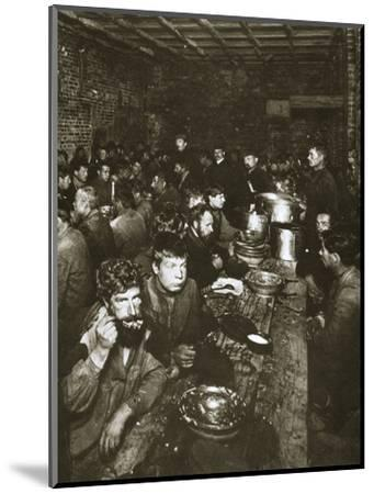 Russian manual labourers eating a meal, late 19th century-Unknown-Mounted Photographic Print
