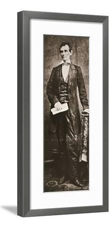 Abraham Lincoln, 16th President of the United States, 1860-Unknown-Framed Photographic Print