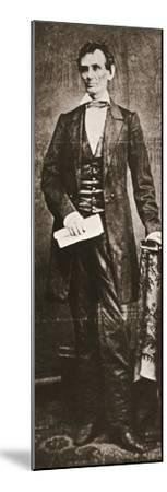Abraham Lincoln, 16th President of the United States, 1860-Unknown-Mounted Photographic Print