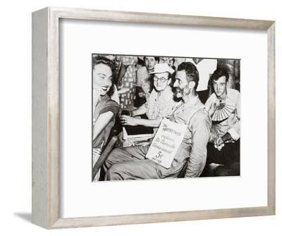 An anti-war group of Jehovah's Witnesses convening in 1940-Unknown-Framed Photographic Print