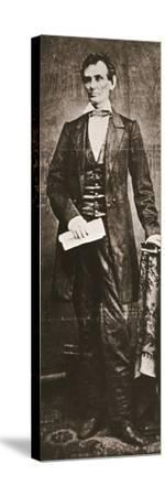Abraham Lincoln, 16th President of the United States, 1860-Unknown-Stretched Canvas Print