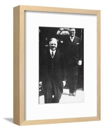 Herbert Hoover, 31st President of the United States, 1930s-Unknown-Framed Photographic Print