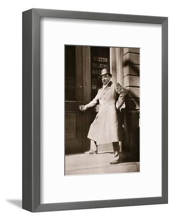 Enrico Caruso, Italian opera singer, USA, 6 November, 1909-Unknown-Framed Photographic Print