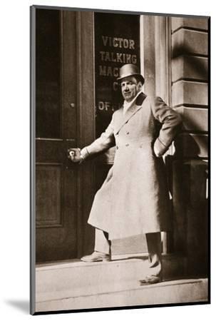 Enrico Caruso, Italian opera singer, USA, 6 November, 1909-Unknown-Mounted Photographic Print