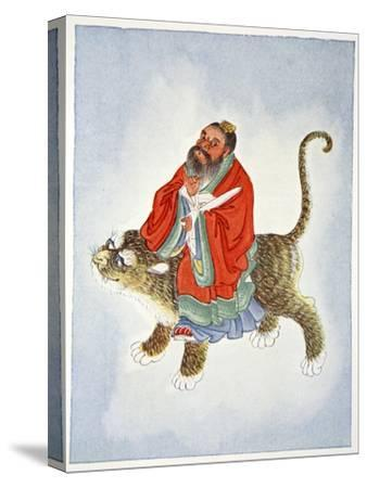 Zhang Daoling, Chinese Taoist hermit and philosopher, 1922-Unknown-Stretched Canvas Print