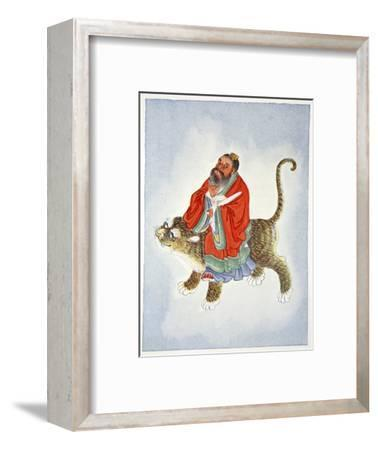 Zhang Daoling, Chinese Taoist hermit and philosopher, 1922-Unknown-Framed Giclee Print