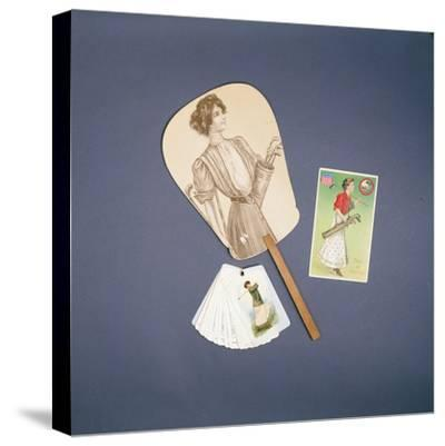 Ladies fan, Horlicks advertising scorecard, postcard, c1910-Unknown-Stretched Canvas Print