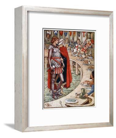 'Sir Galahad is brought to the Court of King Arthur', 1911-Unknown-Framed Giclee Print