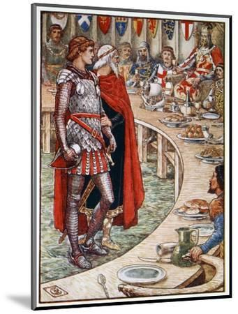 'Sir Galahad is brought to the Court of King Arthur', 1911-Unknown-Mounted Giclee Print