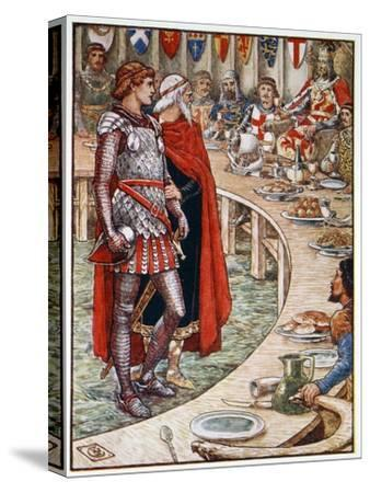 'Sir Galahad is brought to the Court of King Arthur', 1911-Unknown-Stretched Canvas Print