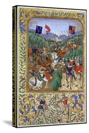 Battle of Agincourt, France, 25 October 1415, (19th century)-Unknown-Stretched Canvas Print