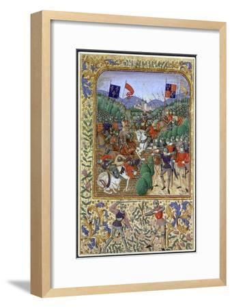 Battle of Agincourt, France, 25 October 1415, (19th century)-Unknown-Framed Giclee Print
