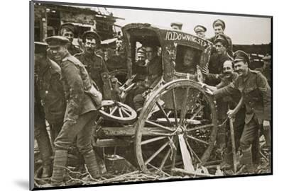 Moving day in a captured village, France, World War I, 1916-Unknown-Mounted Photographic Print