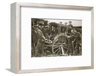 Moving day in a captured village, France, World War I, 1916-Unknown-Framed Photographic Print