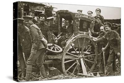Moving day in a captured village, France, World War I, 1916-Unknown-Stretched Canvas Print