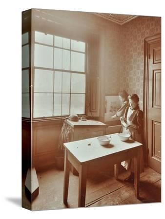 Housewifery, Barnsbury Park School, Islington, London, 1908-Unknown-Stretched Canvas Print
