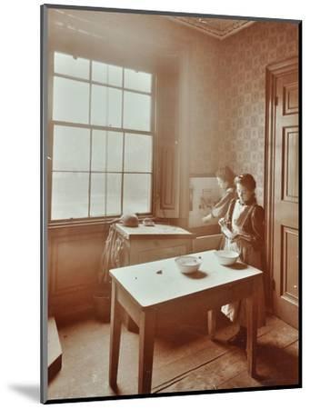 Housewifery, Barnsbury Park School, Islington, London, 1908-Unknown-Mounted Photographic Print