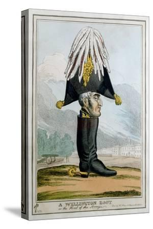 'A Wellington Boot- or the Head of the Armye', 19th century-Unknown-Stretched Canvas Print