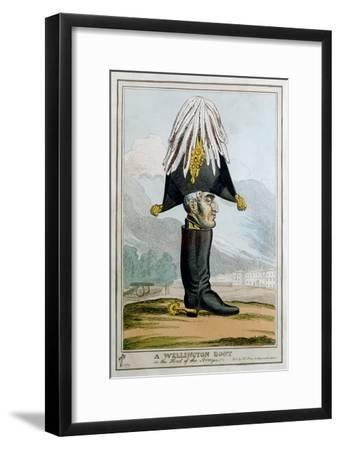 'A Wellington Boot- or the Head of the Armye', 19th century-Unknown-Framed Giclee Print