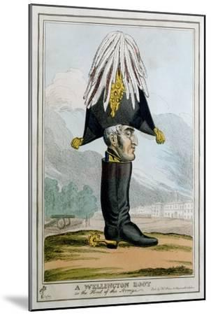'A Wellington Boot- or the Head of the Armye', 19th century-Unknown-Mounted Giclee Print