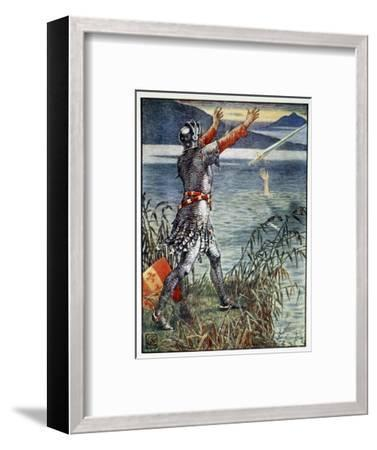 'Sir Bedivere casts the sword Excalibur into the Lake', 1911-Unknown-Framed Giclee Print