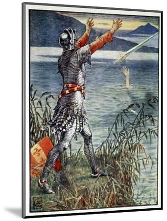 'Sir Bedivere casts the sword Excalibur into the Lake', 1911-Unknown-Mounted Giclee Print