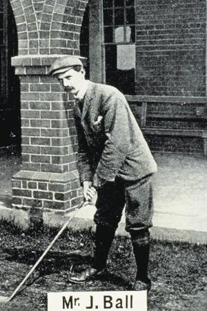 John Ball (1861-1940), British golfer, cigarette card, 1903-Unknown-Framed Giclee Print