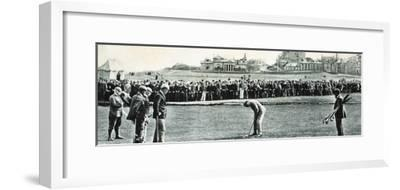 Golfers at the Open Championship, St Andrews, Scotland, 1890-Unknown-Framed Photographic Print