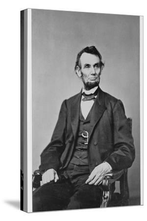 Abraham Lincoln, 16th President of the United States, 1860s-Unknown-Stretched Canvas Print