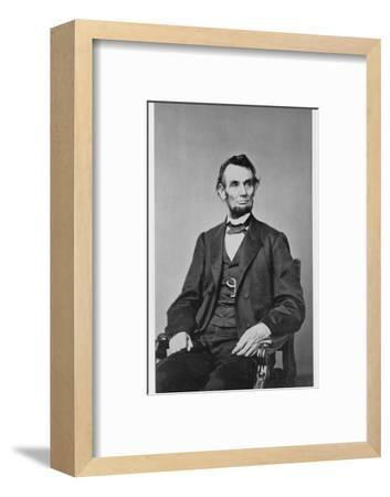 Abraham Lincoln, 16th President of the United States, 1860s-Unknown-Framed Photographic Print