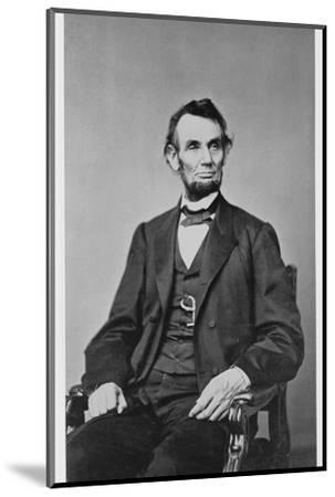 Abraham Lincoln, 16th President of the United States, 1860s-Unknown-Mounted Photographic Print