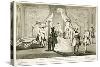 Assembly of Freemasons for the initiation of a Master, c1733-Unknown-Stretched Canvas Print