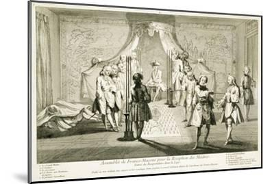 Assembly of Freemasons for the initiation of a Master, c1733-Unknown-Mounted Giclee Print