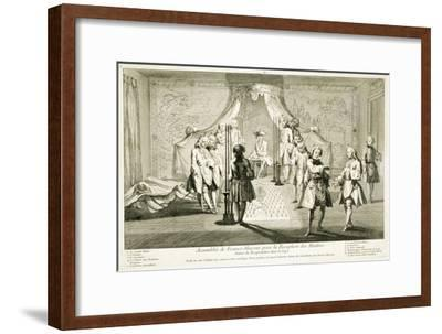 Assembly of Freemasons for the initiation of a Master, c1733-Unknown-Framed Giclee Print