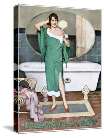 German advertisement for 'Adler' steel bathtubs, 20th century-Unknown-Stretched Canvas Print