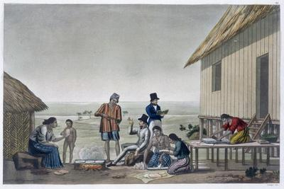 Occupations of the Agagna people, Mariana Islands, c1820-1839-Unknown-Framed Giclee Print
