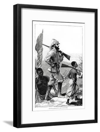 Henry Morton Stanley approaching Lake Tanganyika, 19th century-Unknown-Framed Giclee Print