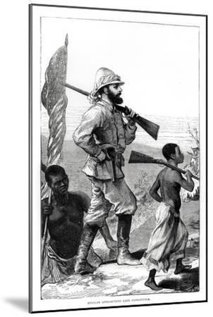 Henry Morton Stanley approaching Lake Tanganyika, 19th century-Unknown-Mounted Giclee Print