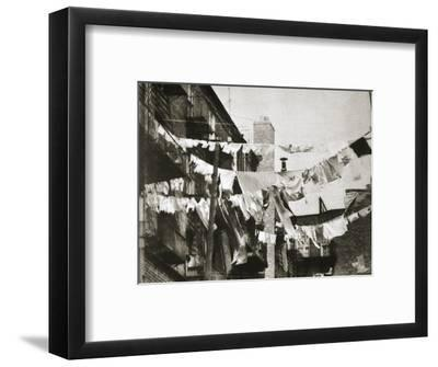 Wash day at some New York tenement buildings, USA, early 1930s-Unknown-Framed Photographic Print