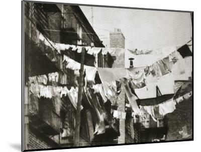 Wash day at some New York tenement buildings, USA, early 1930s-Unknown-Mounted Photographic Print