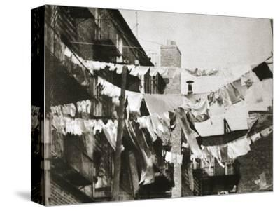Wash day at some New York tenement buildings, USA, early 1930s-Unknown-Stretched Canvas Print