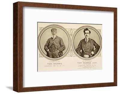Rare postcard showing Tom Morris and Tom Morris Junior, c1905-Unknown-Framed Photographic Print