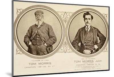Rare postcard showing Tom Morris and Tom Morris Junior, c1905-Unknown-Mounted Photographic Print
