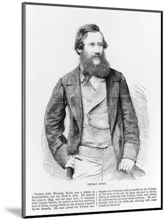 Portrait of John Hanning Speke, British explorer, 19th century-Unknown-Mounted Giclee Print