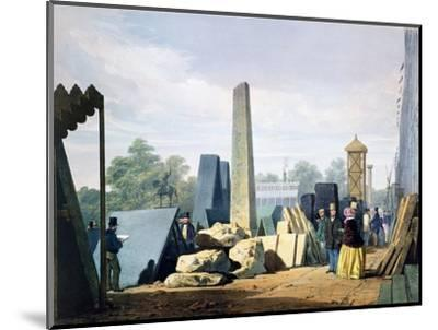 The exterior, Great Exhibition, Hyde Park, London, 1851 (1854)-Unknown-Mounted Giclee Print