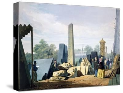 The exterior, Great Exhibition, Hyde Park, London, 1851 (1854)-Unknown-Stretched Canvas Print