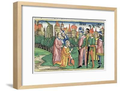Ezra 6:16: the Temple of Jerusalem is dedicated by King Darius-Unknown-Framed Giclee Print