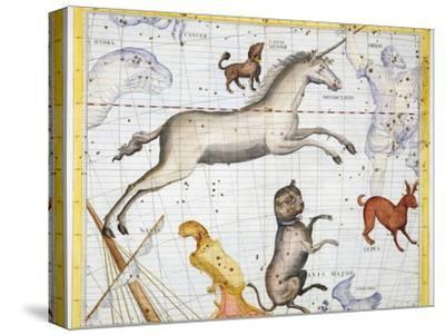 Constellations of Monoceros, Canis Major and Canis Minor, 1729-Unknown-Stretched Canvas Print